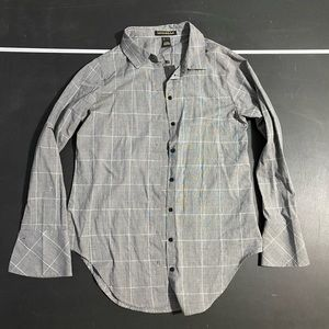 Grey checkered flannel buttoned down shirt